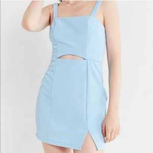 Urban Outfitters Light Blue Cut Out Dress